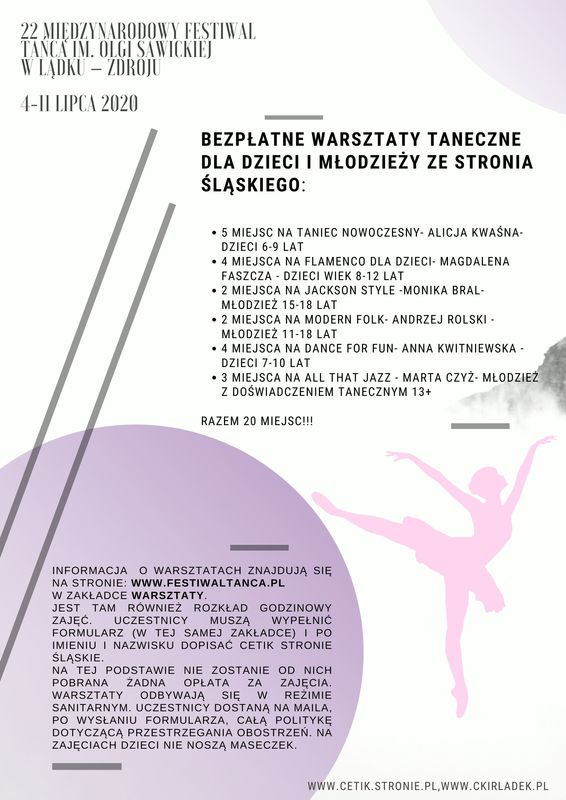22 Międzynarodowy Festiwal Tańca im. Olgi Sawickiej w Lądku – Zdroju 4-11 lipca 2020r..jpeg
